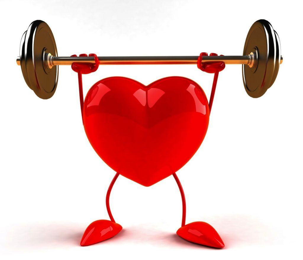 CenTrak Supports Heart Health Awareness Month - healthy heart lifting weight